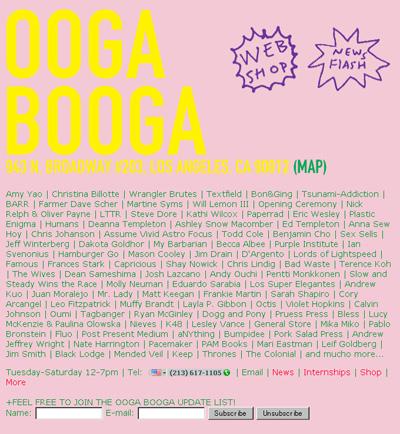 LAのクリエイターズアートアイテムのセレクトショップ Ooga Booga ウーガ・ブーガ