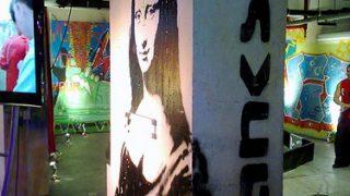 ロンドンのスイス大使館の駐車場にあるアンダーグラウンド・アート