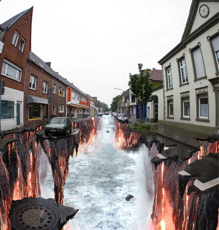 3Dストリートアート:エドガー・ムラー