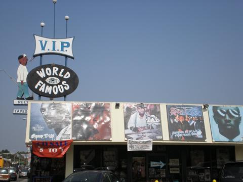 ウェストコーストギャングスタ・ラップのランドマーク的な存在 レコードショップ・ロングビーチのV.I.P. Records