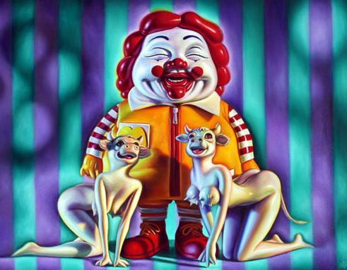 スーパーサイズ・ミーでお馴染みのコンテンポラリーアーティスト:ロン・イングリッシュ(Ron English)