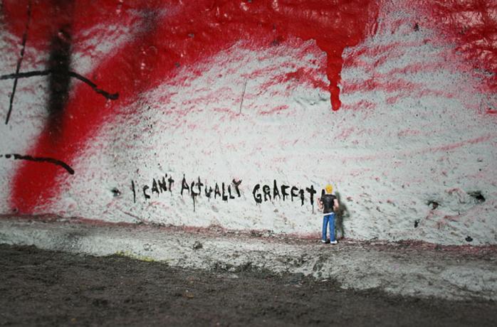 ロンドンの小さなストリートアート – Slinkachu