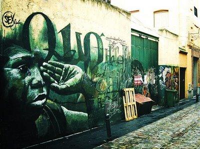 El Nino de las Pinturas:スペインのグラナダ市のストリートアーティスト