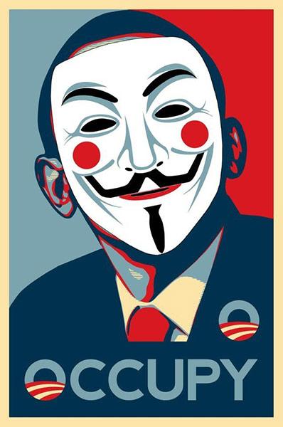 2011年の反資本主義プロテストポスターアート