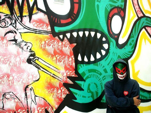 コロンビアのグラフィティアーティスト・Stinkfish