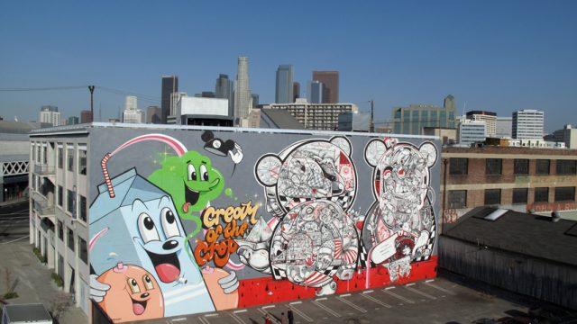 DABS and MYLA graffiti art cream-crop