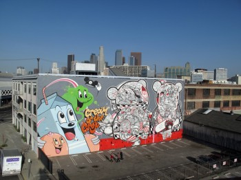 DABS and MYLA アート作品 in L.A.