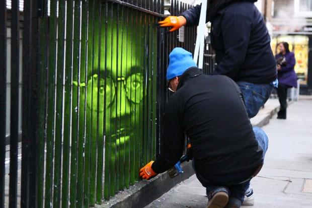 ストリートアートのキャンペーン:アムネスティ・インターナショナル(Amnesty International) x Mentalgassi