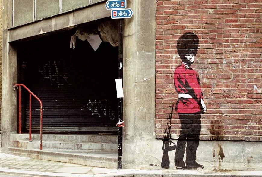 ストリートアート界のカリスマ:Banksy(バンクシー)・世界一番有名なストリートアーティストに登りつめた男