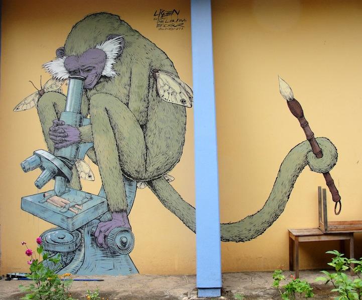 スペイン人のストリートアーティスト:Liqen(ライケン)