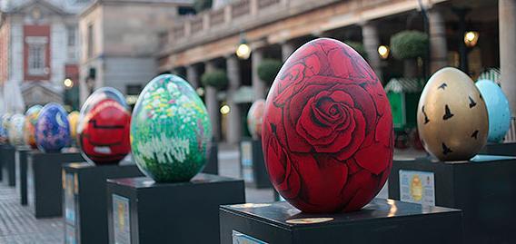 ロンドンのアート系チャリティーイベント:The Fabergé Big Egg Hunt (ザ・ファベルジェ・ビッグ・エッグ・ハント)