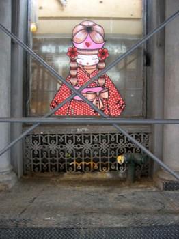 コラリーのゲイシャストリートアート