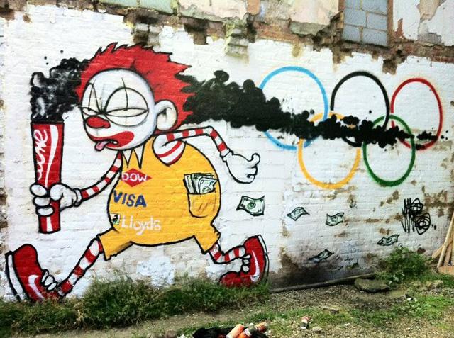 ロンドンオリンピックをテーマにしたストリートアート紹介