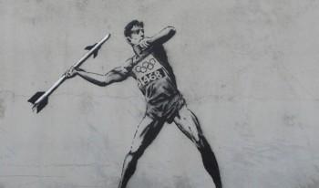 オリンピックストリートアート:バンクシー