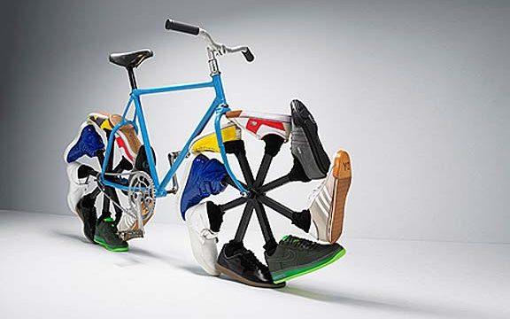 スニーカーアート自転車