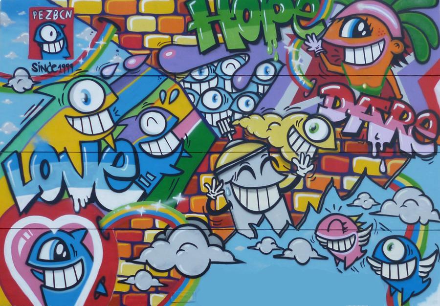 スペインのバルセロナで活躍しているストリートアートティスト Pez(ぺズ)のインタビュー