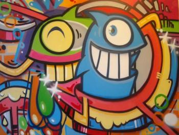 Pez(ぺズ) ストリートアート作品:Graffiti Party1