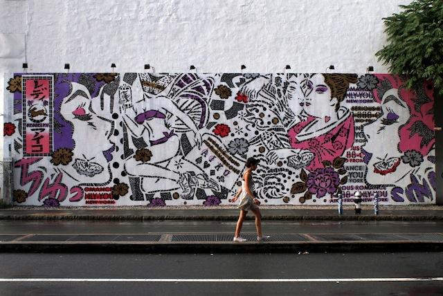 ニューヨークで活躍している日本人ストリートアーティスト:レディー・アイコ (Lady Aiko/ナカガワ・アイコ)